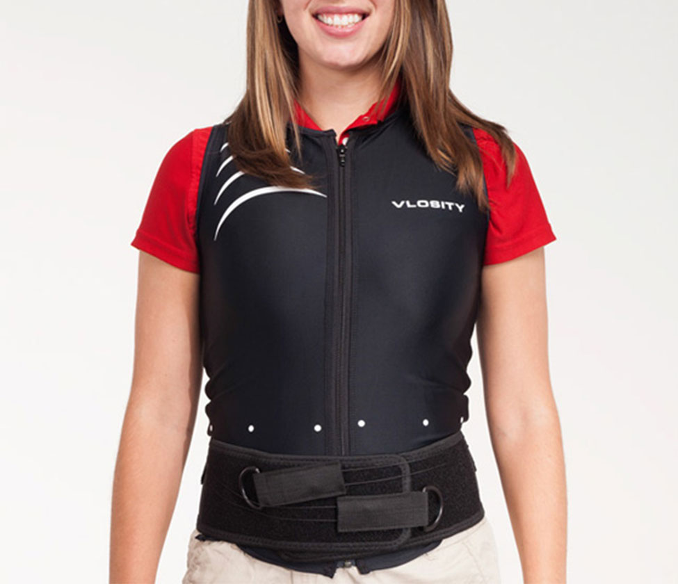 vlosity jacket placed on young woman